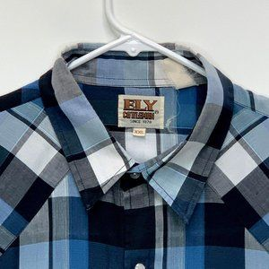 Ely Cattleman Mens Pearl Snap Shirt Multicolor 2XL